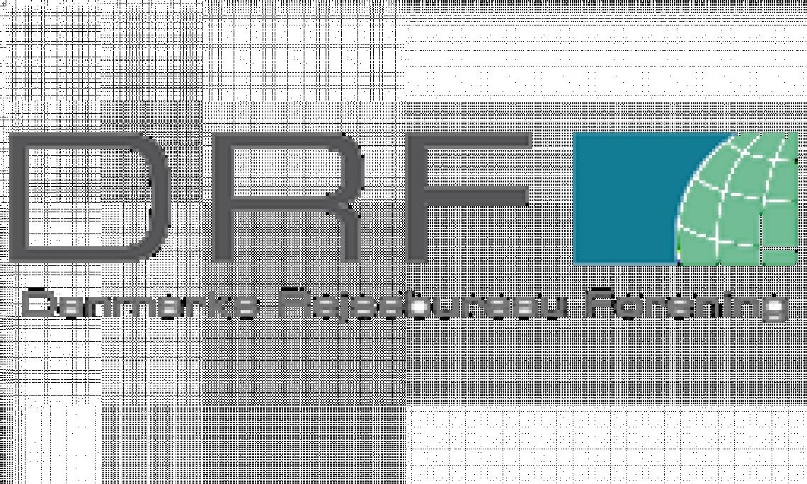 DRF logo, danmarks rejsebureau forening