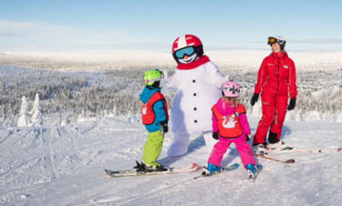 skiferie med børn, skiskole for børn