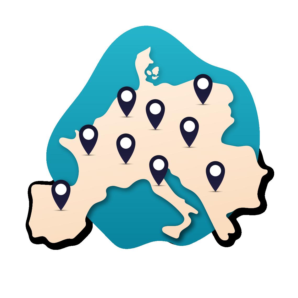 plus de 400 destinations au choix dans toute l'Europe