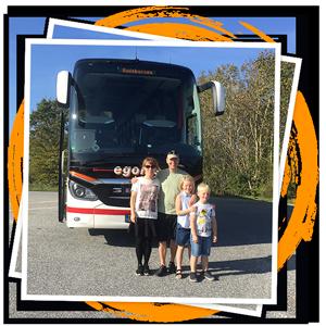 badebussen, bus, rejser med bus