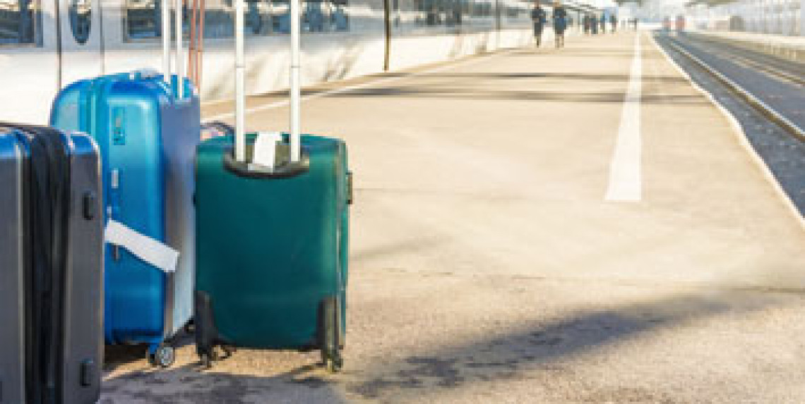 bagage, toget, snälltåget