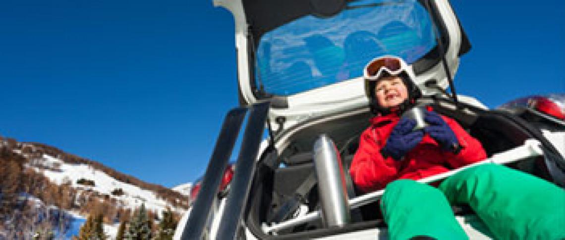 kør selv skiferie, med børm, bilferie egne bil med børn