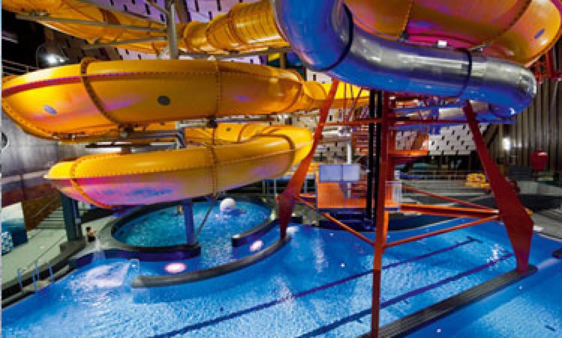 skiferie med børn, badeland, swimmingpool, pool