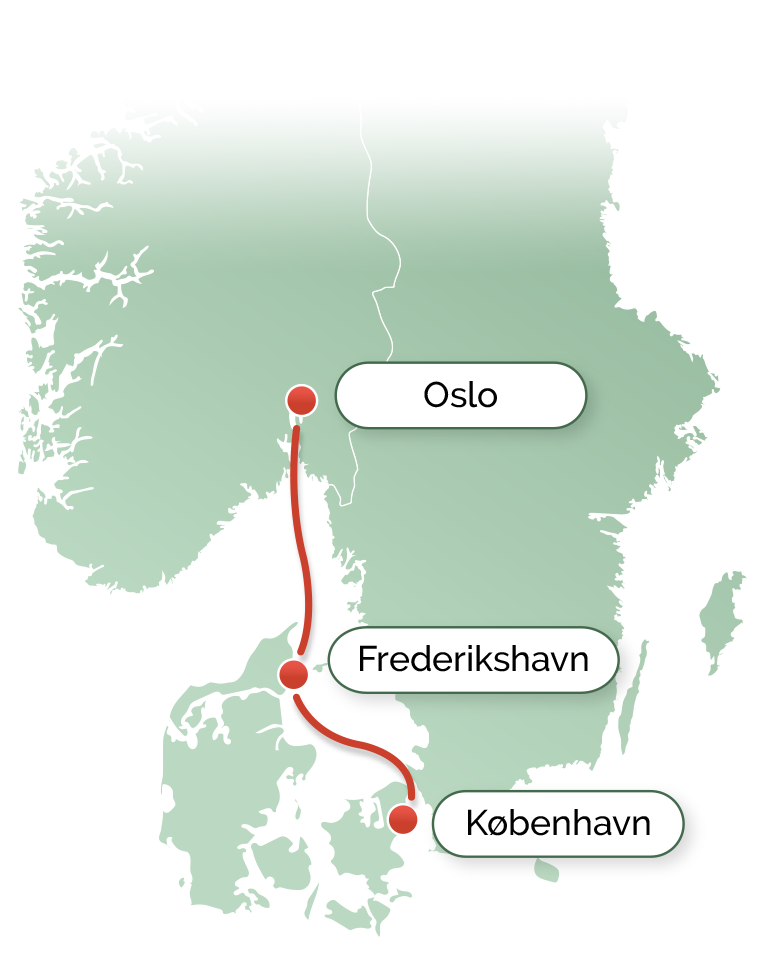 DFDS, rute, færge