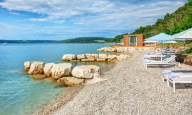Strand Camping Lanterna in Istrien