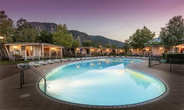 Tag på luksuscamping ved Maggioresøen