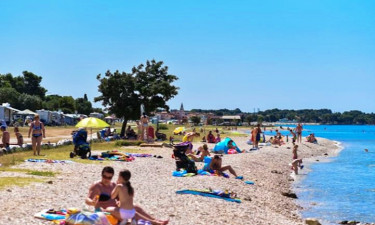 Pool, Strand und Einrichtungen Camping Pineta