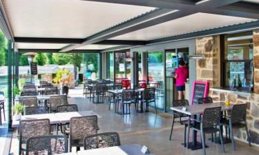 Restaurant Camping Les Genêts (Aveyron) in den mittleren Pyrenäen