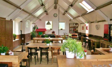 Restaurants Camping't Geuldal in grünen Limburg