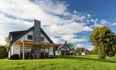 Bo i egen bungalow i grønne omgivelser