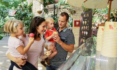 Indkøb og restauranter