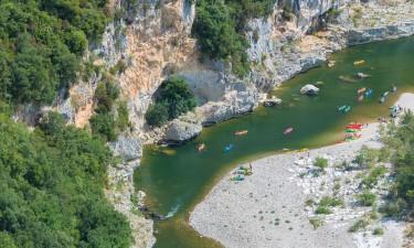 Mulighederne ved Ardèche floden