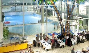 Restauranter og badelandscaféen
