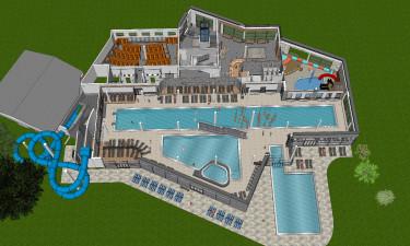 Nyt og lækkert poolområde med wellness