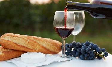 Fransk vin og mad