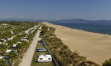 Området omkring Camping Las Dunas