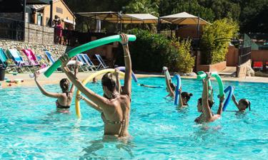 Pool Camping Mas de Pierredon an der Côte d'Azur