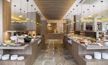 Halvpension og restaurant