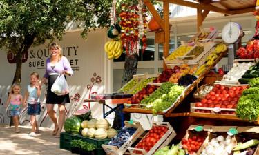 Shopping Camping Lanterna in Istrien