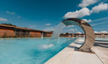 Det skønneste poolområde med bar