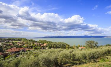 Jezioro Trazymeńskie Włochy Campingi
