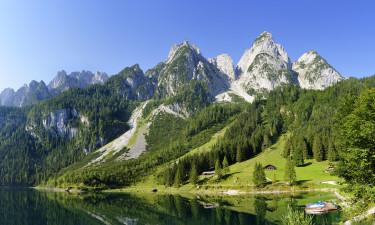 Panoramaudsigt over bjergene